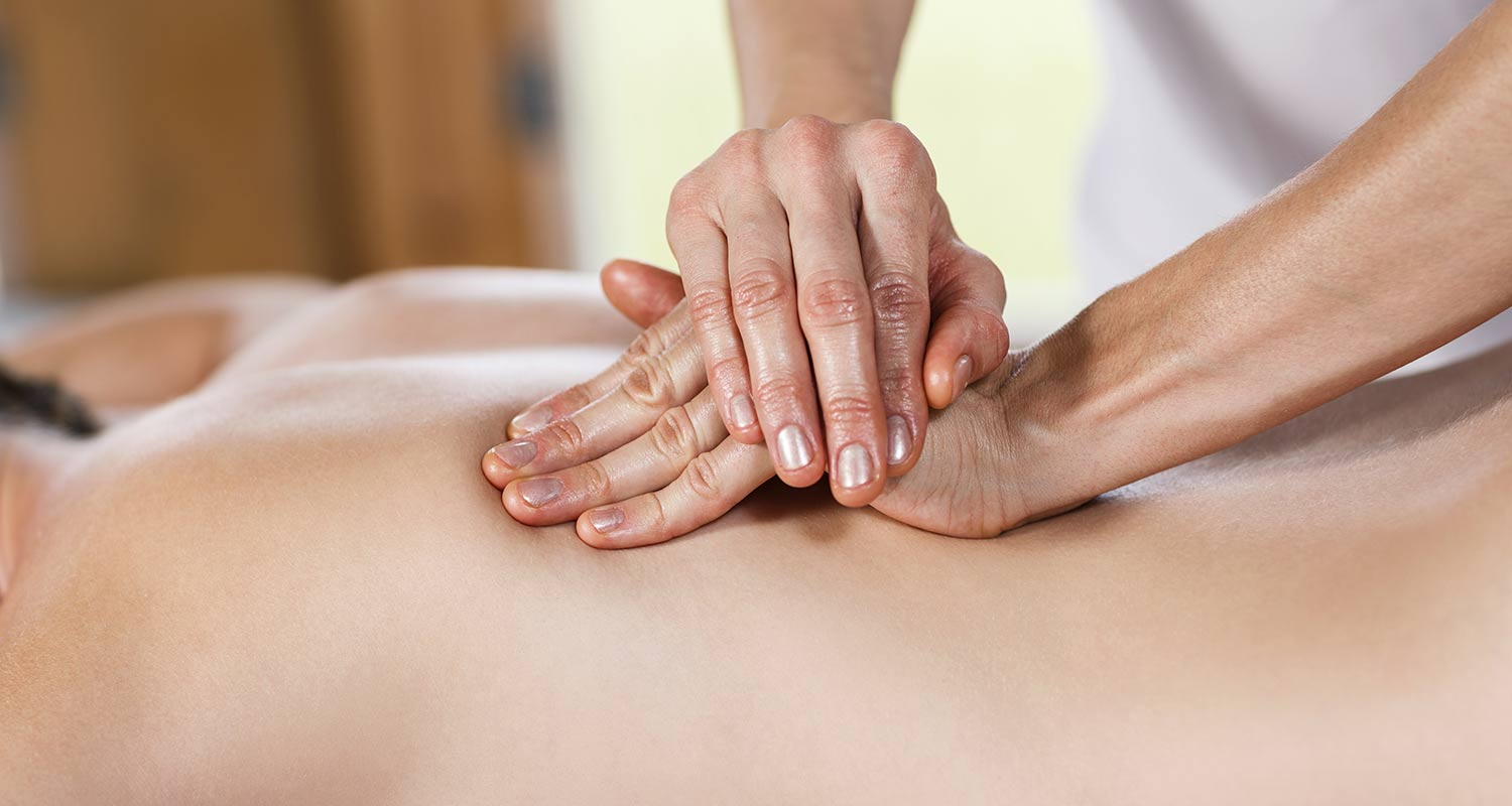 Detail of back massage